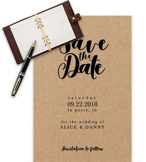 save the date templates for word 100 free