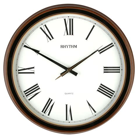 bedroom wall clocks traditional rhythm wall clock silent no ticking in woodgrain kitchen bedroom