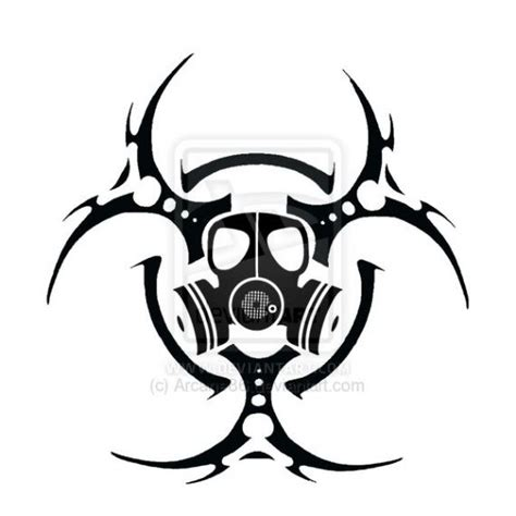biohazard tribal tattoo radiation symbol tattoos biohazard symbol tattoos page 2