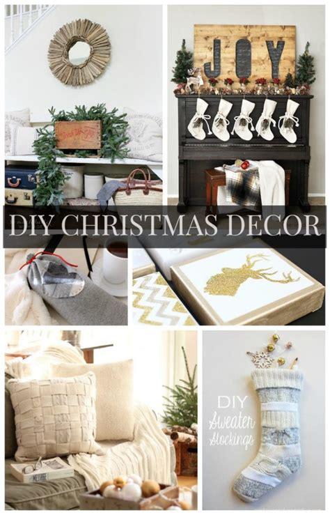 decor links diy christmas decor ideas link party features the