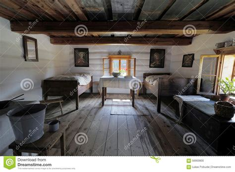 wooden house interior old wooden house interior stock photo image 56900800