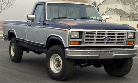 manual cars for sale 1984 ford f250 electronic valve timing ford f 250 standard cab pickup 1984 blue silver for sale 1fthf2615epb61309 1984 ford f250 xl