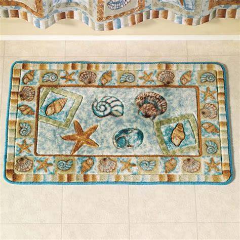 seashell rugs bathroom seashells bathroom decor home interior design