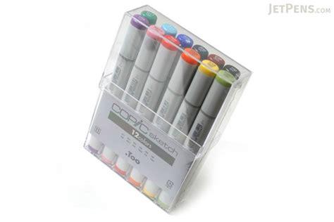 sketchbook copic copic sketch marker 12 basic color set jetpens
