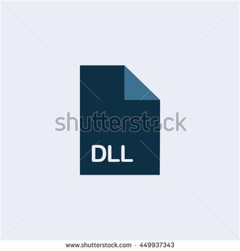 format file dll ico icon ico file iconextension icon stock vector