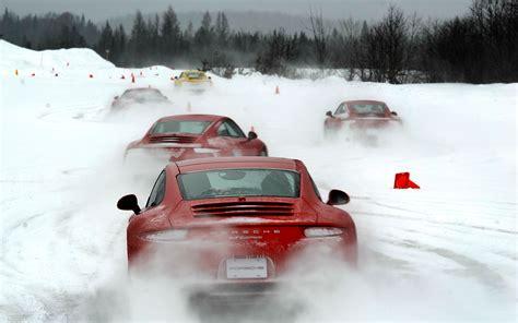 porsche winter frost versus bite porsche winter driving experience