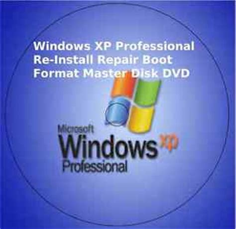 cd format for windows xp windows xp professional re install repair boot format