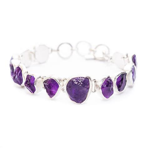 Handmade Designer Jewellery - amethyst gemstone handmade designer bracelet poppy jewellery