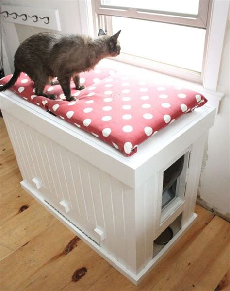keeping litter box in bedroom make a cat litter box that doubles as a bench