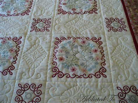 Embroidery Quilt by Addicted To Quilts Floral Embroidery