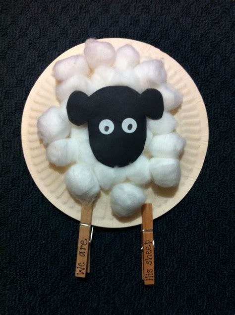 paper plate sheep craft creative christian david the shepherd boy church