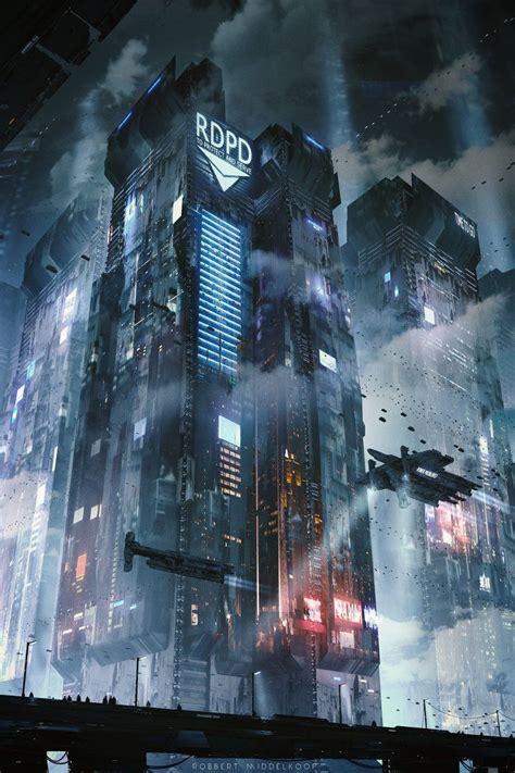 cypulchre sci fi street corner  robbertmiddelkoop