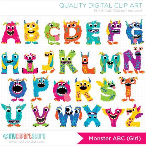 free printable monster alphabet letters monster alphabet clip art 27