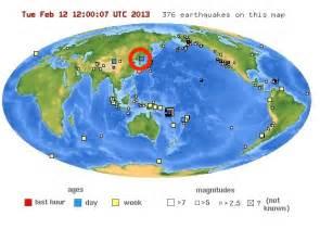 North Korea On World Map by North Korea Earthquake Map Business Insider