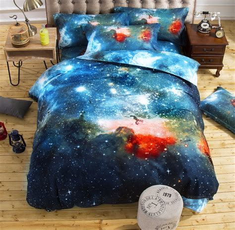 space bedding twin aliexpress com buy 3d galaxy bedding sets twin queen