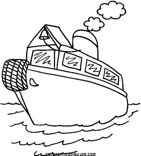 barcos sencillos para colorear barco a vapor dibujo imagui