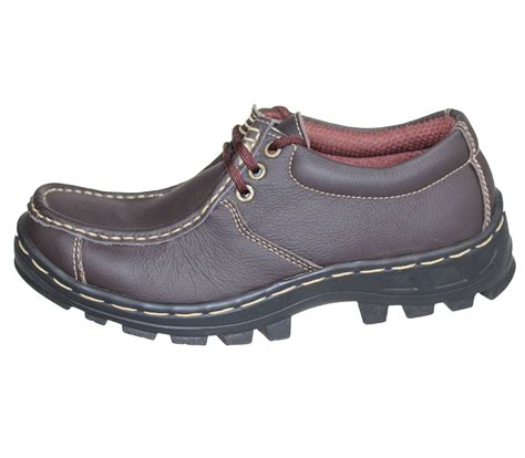 hiking shoes flat mens boys mild leather comfort boots casual flat laceup