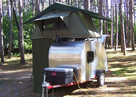 Coleman Popup Campers Floor Plans by Teardrop Trailer Compact Camping Concepts
