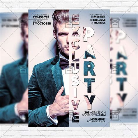 Exclusive Party Premium Flyer Template Instagram Size Flyer Exclsiveflyer Free And Instagram Flyer Template