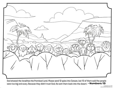12 spies bible coloring pages what s in the bible