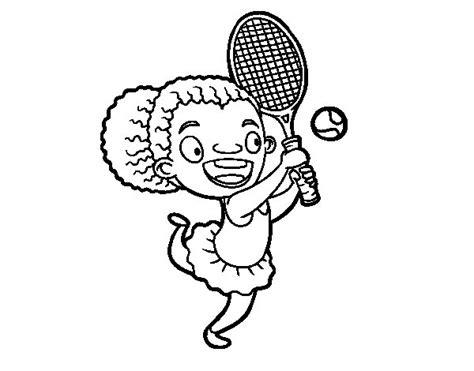 imagenes de niños jugando tenis para colorear dibujo de jugadora de tenis para colorear dibujos net
