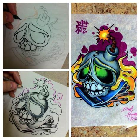 new school tattoo uk 392 besten skulls and skelletons tattoos ideas bilder auf