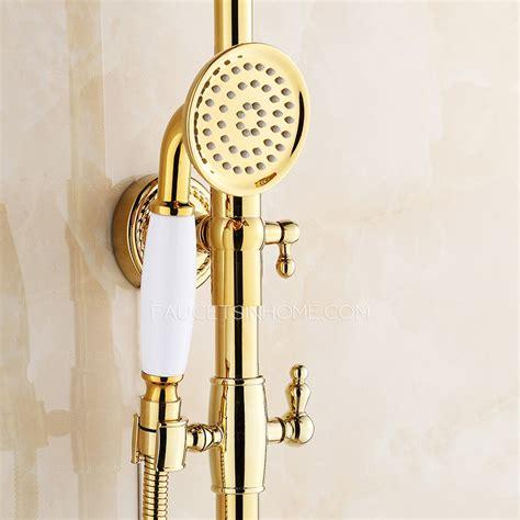 polished brass bathroom fixtures vintage polished brass shower faucet fixtures for bathroom