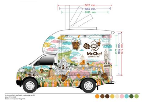 American Food Truck Design Co Bkk | mr chef at chiang rai food truck design for thai local