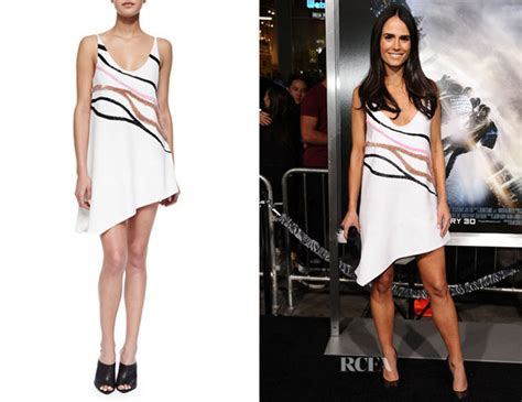 Who Wore Narciso Rodriguez Better Sevigny Or Amanda Bynes by Jordana Brewster S Narciso Rodriguez Wave Embroidered