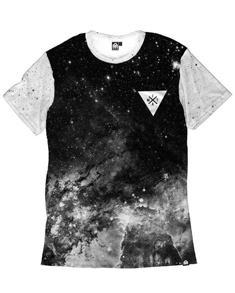 T Shirt Nevermore 4 black space minimalist s galaxy print shirt into the am