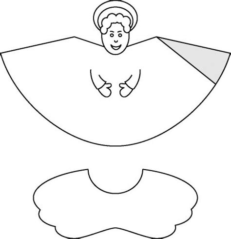 christmas cone paper toys angel