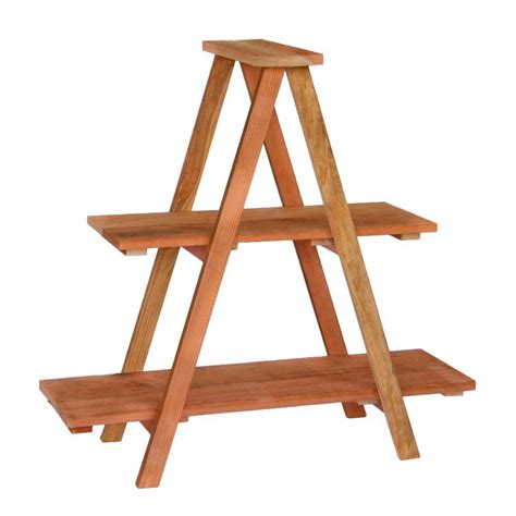 hollis wood products 36 in redwood ladder shelving unit