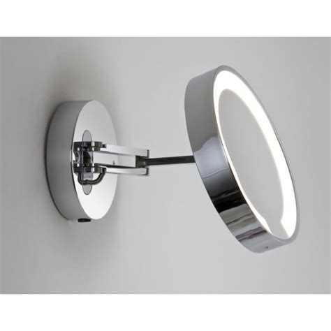 polished chrome bathroom mirrors astro lighting catena single light low energy magnifying