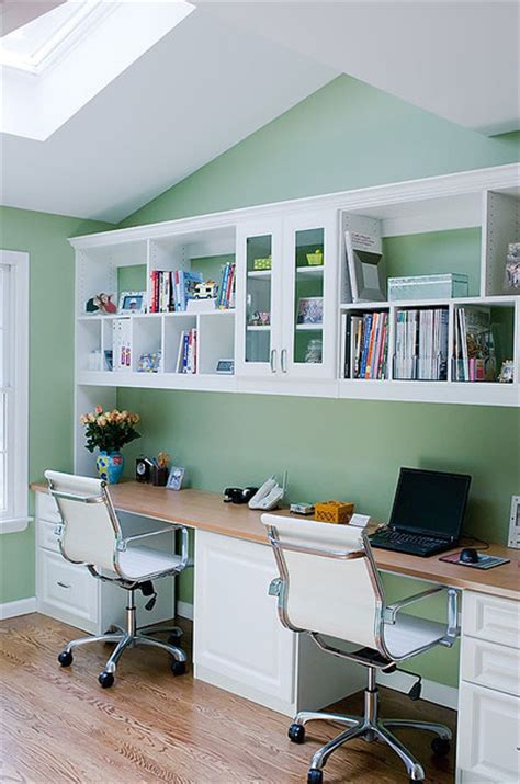 His And Hers Home Office Design Ideas by Home Office For Two Roslyn Contemporary Home Office
