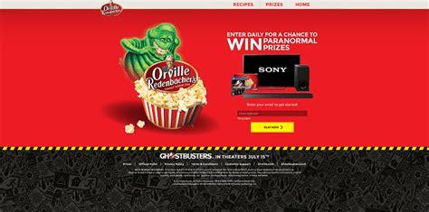 Orville Redenbacher Sweepstakes - orvilleandwin com orville redenbacher s ghostbusters sweepstakes