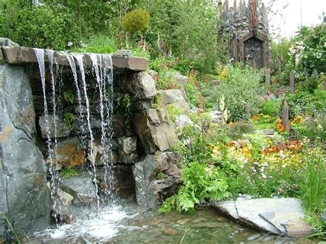 waterfall backyard waterfalls striking complement to backyard layout
