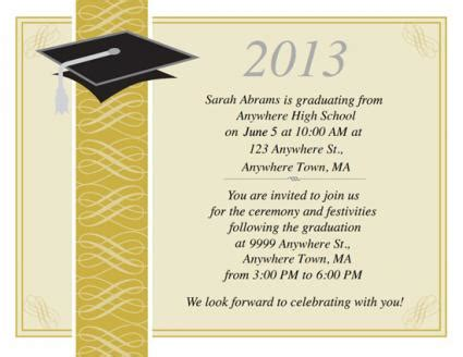 Vanderbilt Mba Invitation Date by Free Printable Graduation Invitations Lovetoknow