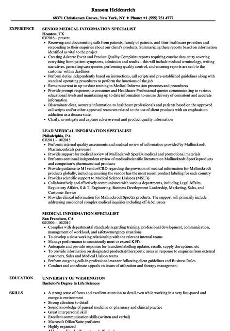 health information specialist sle resume flex developer