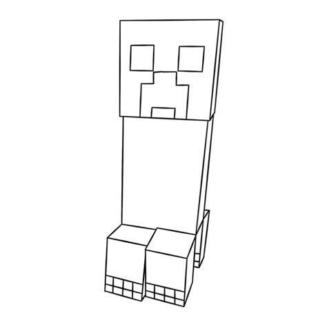 minecraft character drawing template majkraft creeper do druku