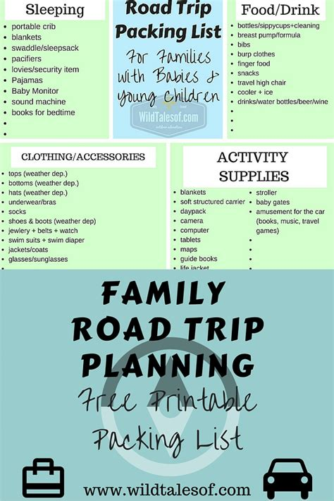 printable road trip packing checklist road trip packing list for families with babies and young
