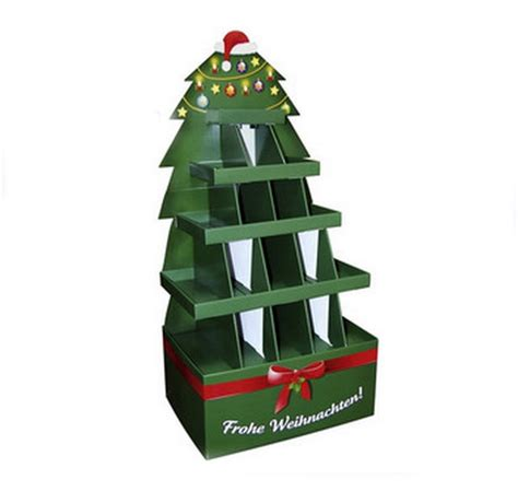 design milk christmas tree retail product display stands customized round cardboard