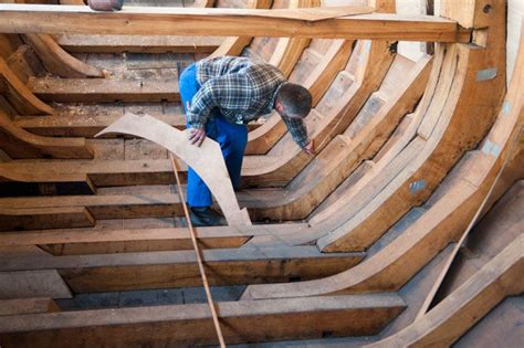 wood scow traditional maritime skills making the frame timbers