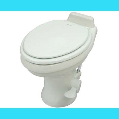 dometic 320 series low profile toilet w/ hand spray, white