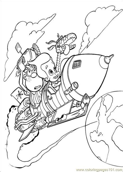 coloring book genius jimmy neutron boy genius coloring pages