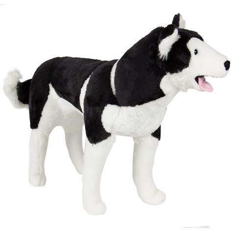 ditz designs large plush realistic stuffed animal pillow black lab dog hug large husky plush animal realistic soft stuffed pillow pet wolf ebay