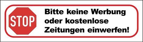 Aufkleber Keine Werbung Und Gratiszeitungen by 10x Bitte Keine Werbung Oder Kostenlose Zeitungen
