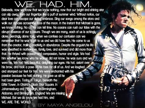 michael jackson biography quotes music quote michael jackson visit ellen jean barrier