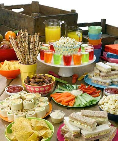party food party food spread for kids birthday parties pinterest