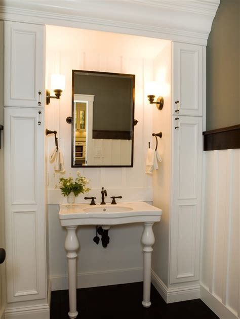 Powder Room Storage Ideas Great Storage For Small Powder Room Bathrooms Small