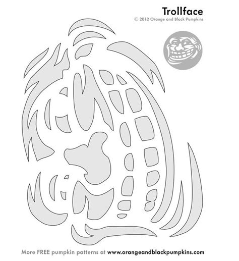 Meme Pumpkin Stencil - troll face meme stencil lol pinterest memes troll